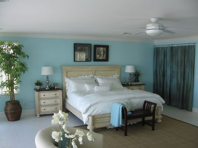 Indian Shores house rental - Master bedroom w/panoramic view of the Gulf