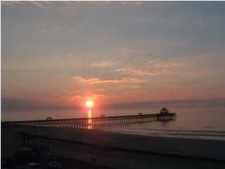 Watch sunrise or moon!! Walk to fishing pier - Folly Beach condo vacation rental photo