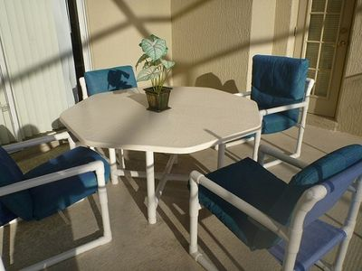 Patio set in Lanai