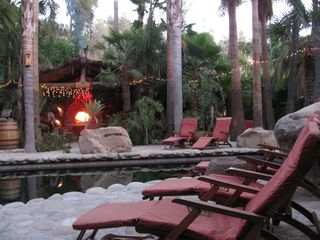 Ojai estate photo - Lounge around the pool and warm by the roaring fire