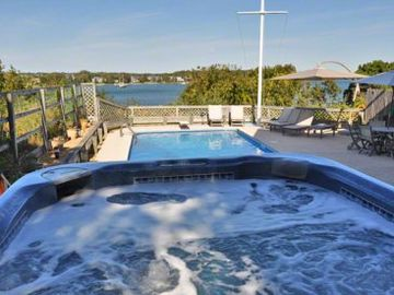 Hot Tub Water Views Include Pool, Lagoon & Atlantic Ocean