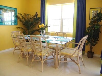 Spacious Dining Room -- Seats 6 in our Cayman Islands Vacation Home.