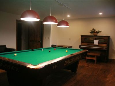 Entertainment Area with Pool Table and Piano