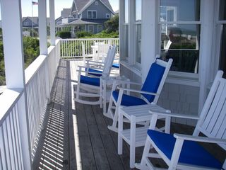Bald Head Island house photo - Large front porch with plenty of seating