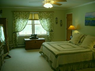 New Paltz house photo - Master bedroom suite with king bed and attached private full bath