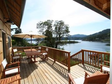 Eastsound house rental - Relax on the lovely deck