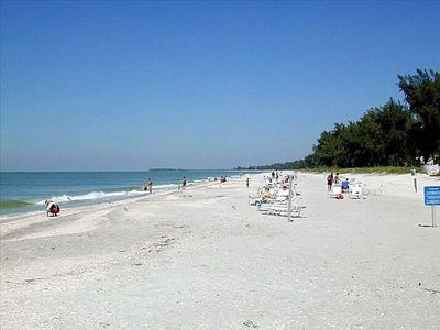 A short walk to 2.5 miles of white sand beaches