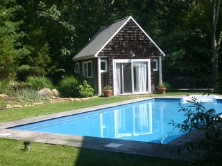 East Hampton house photo - Pool and Pool house