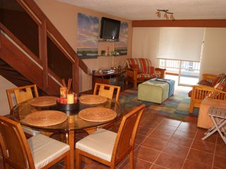 Cabo Rojo apartment photo - Dining and living room areas viewed from kitchen.