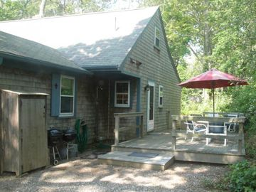 Eastham cottage rental - Relax and enjoy your private deck.