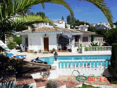 Mijas Costa villa rental - Villa view from Pool
