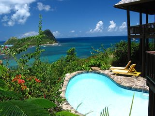 Pool View From Master Bedroom Deck - Cap Estate villa vacation rental photo