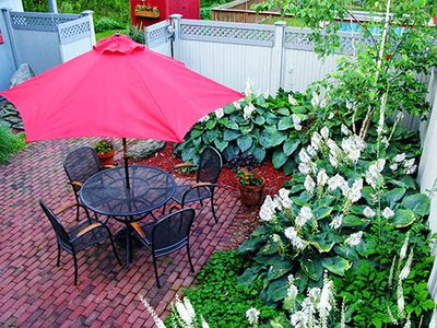Bennington apartment rental - Private Courtyard adjacent to apartment
