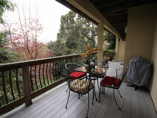 Berkeley apartment photo - Seating for 4 and a barbecque in large deck area.