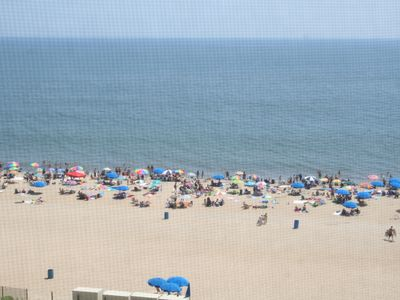 Another view of beach from balcony