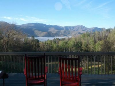Porch view of the  Sky Fall Getaway!