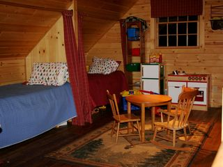 Lake City lodge photo - One of three lofts and play area