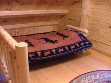 Upstairs sleeping area