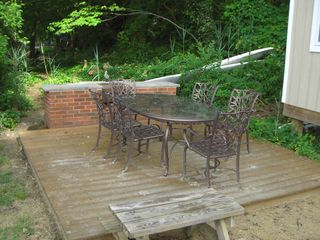 Annapolis house photo - Beach deck, patio table, chairs and brick grill