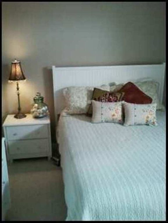 Queen size bed- decorated in beach theme