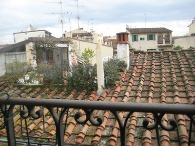 View from the dining room over the typical Florentine roofs