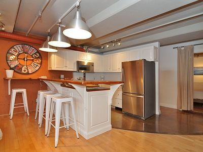 Large, newly renovated,spacious 1 bedroom condo with all new appliances & LED tv