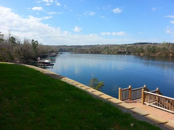 Lewis Smith Lake house rental - View From Lakeside Lawn