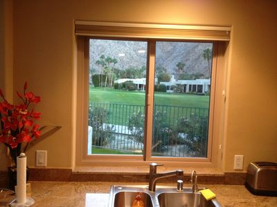 Indian Wells condo rental - View from Kitchen window