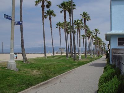The beach at the end of the walkway