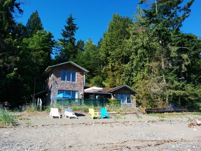 cottage from the beach