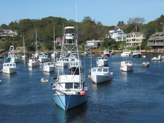 Ogunquit cottage photo - Moored boats at Perkins Cove. 10 minute walk from cottage.