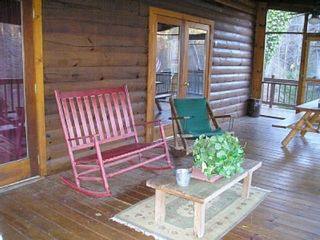 Ellijay cabin photo - HUGE screened in deck