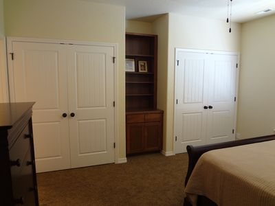 Hayden Lake condo rental - master closets