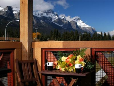 Postcard view of Banff National Park's Mount Rundle. Best views  in town.