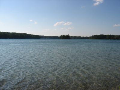 Hillman cottage rental - Beautiful lake view from the shoreline.