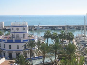 Further view of Estepona Marina from the apartment