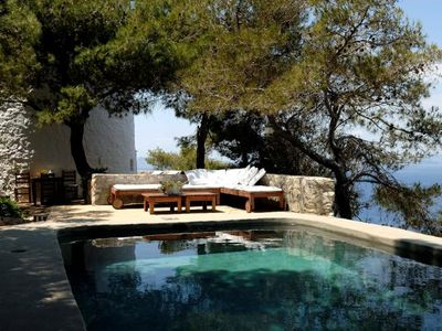 WINDMILL with private POOL, panoramic view of sea, village & mountains.