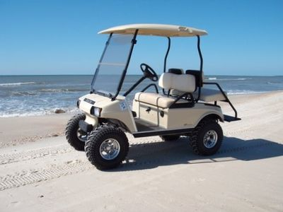 Beach-ready golf cart - included in peak rental, optional off-peak - 2 available