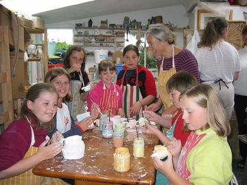 Pottery teaching for childrens group