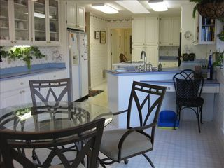 Hot Springs Village house photo - Kitchen with breakfast nook overlooking lake.