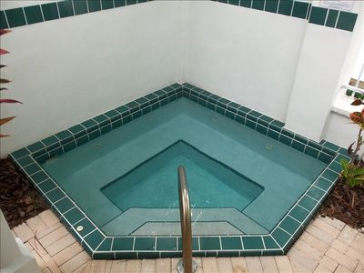 Inviting Spa/Pool. located just outside of your living room!