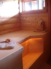Tiburon house photo - Original real Finnish wet sauna with awesome steamy rocks. View to Golden Gate