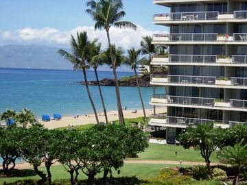Kaanapali condo rental - #201 Whaler Oceanfront!!! Corner Condo Right on Kaanapali Beach!! Panoramic View