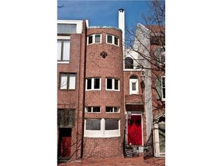 Philadelphia house photo - Front View, Double Door, Turret Balcony & Bubble glass windows