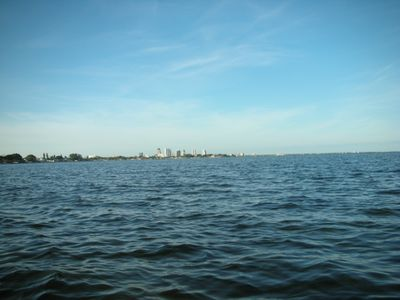 View to St. Pete by kayak, leaving canal at the house