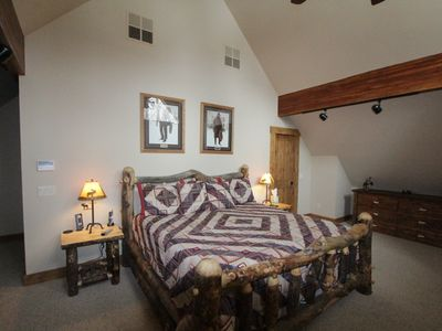 Master suite with king size pillow top mattress
