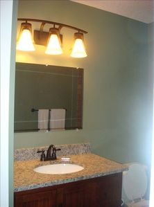 Newly remodeled master bathroom.