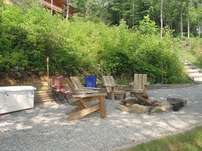 Lake Nantahala house rental - Fire Pit!