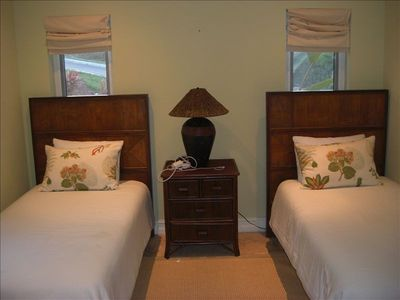 Great Exuma villa rental - main floor guest bedroom 2 with 2 twins