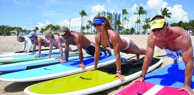 Hit the beach for a paddle board or surf lesson.
